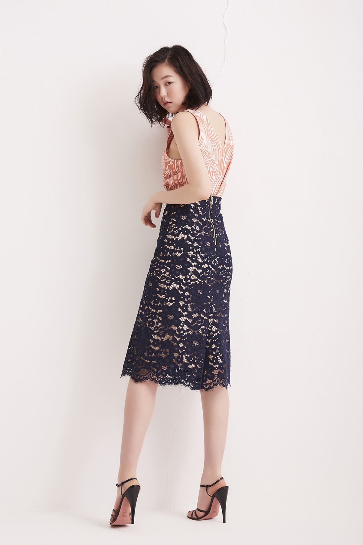 [50% OFF] Blue Berry Flared Skirt