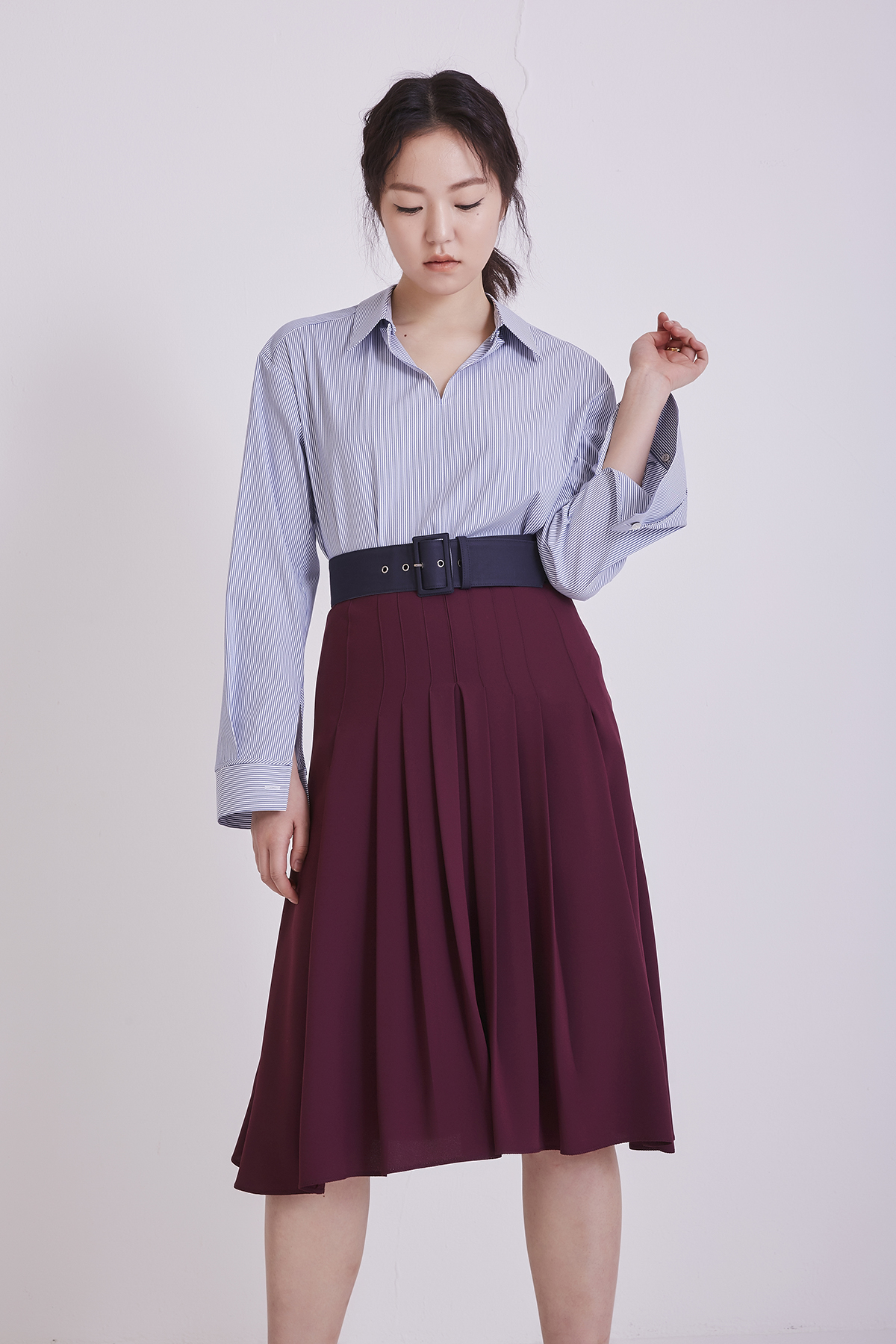 [50%OFF] Flow Pleated Midi Skirt