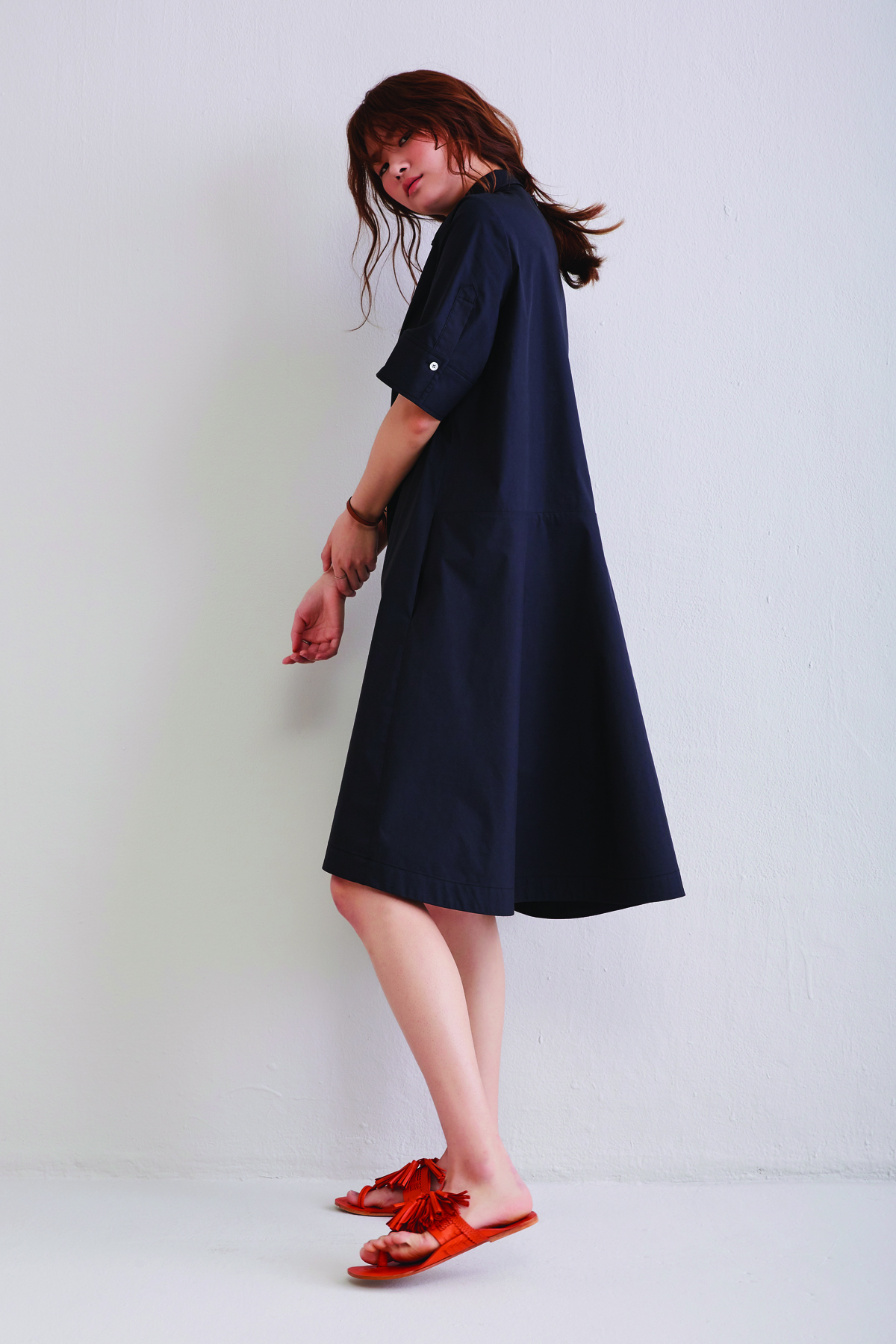 [50%OFF] Black Cotton Shirts Dress