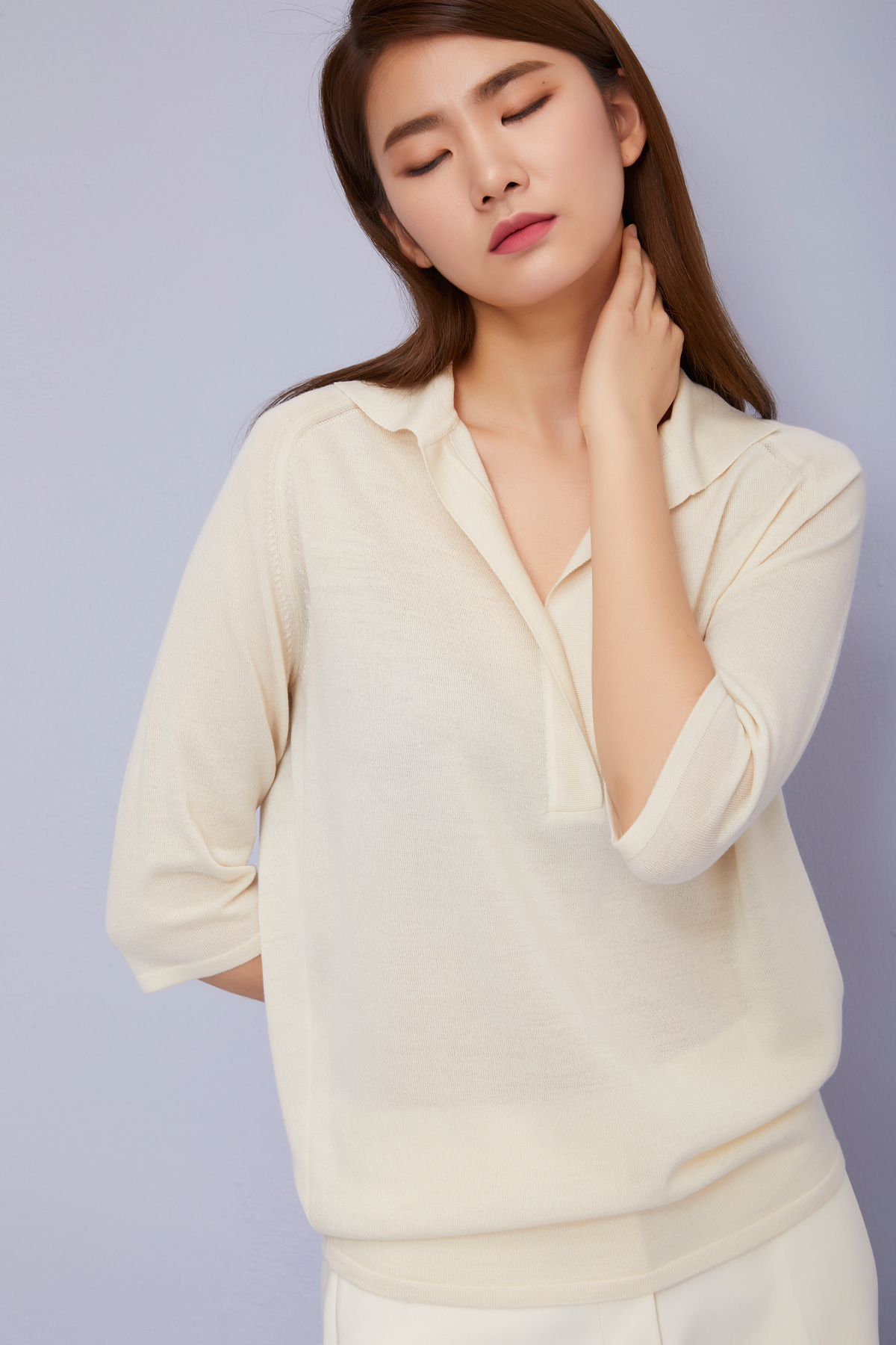 Cashmere Blend Pullover Ivory