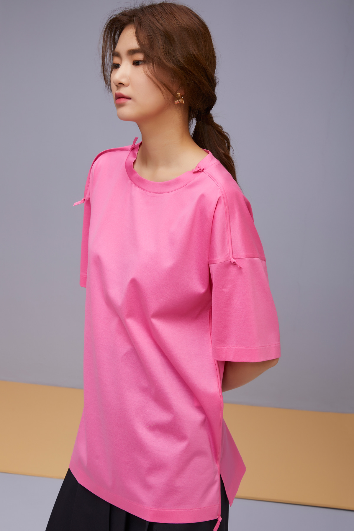 Cotton Jersey Top Pink
