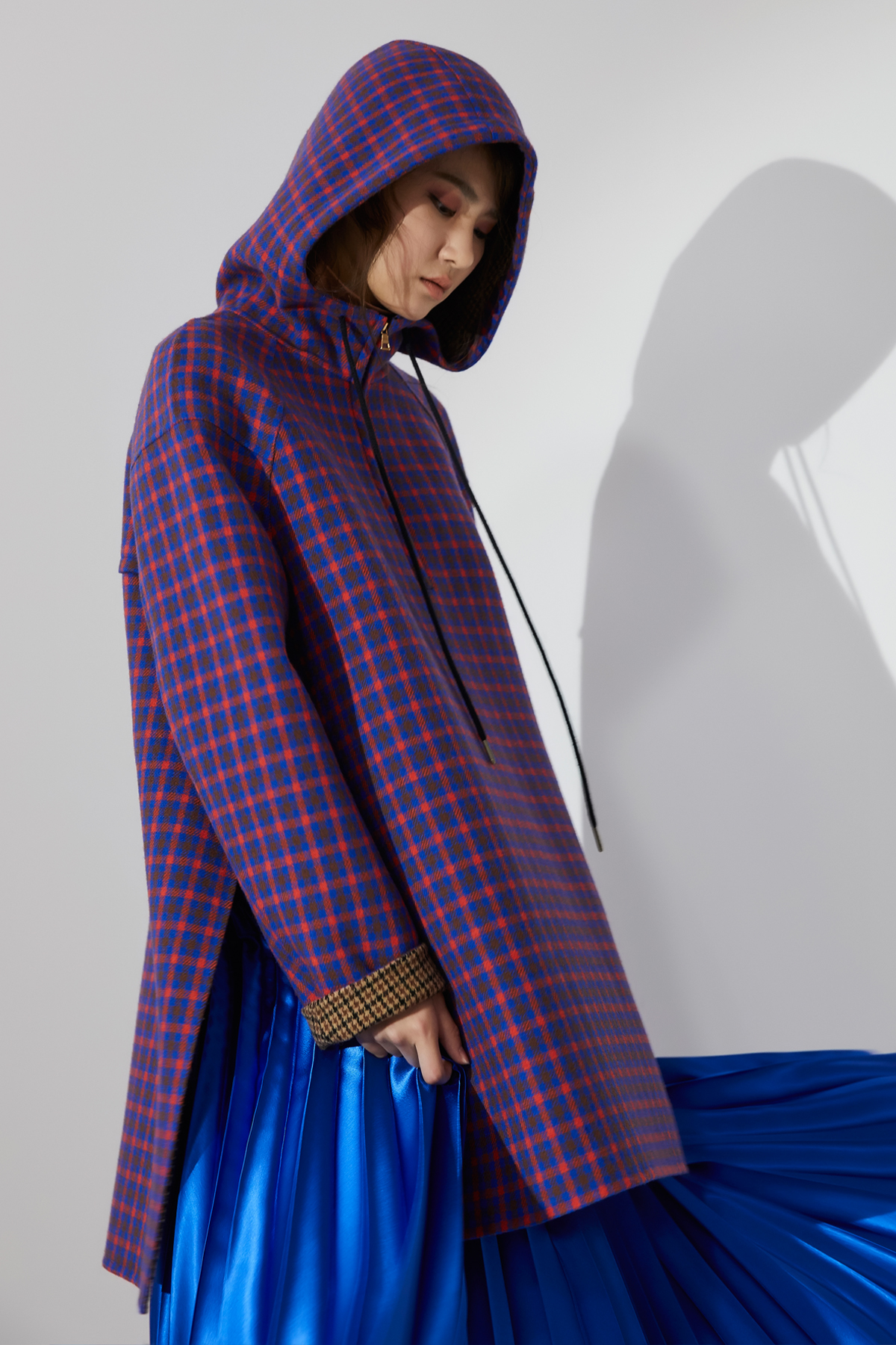 [OFF 20%] Hooded Pullover Handmade Outer Blue
