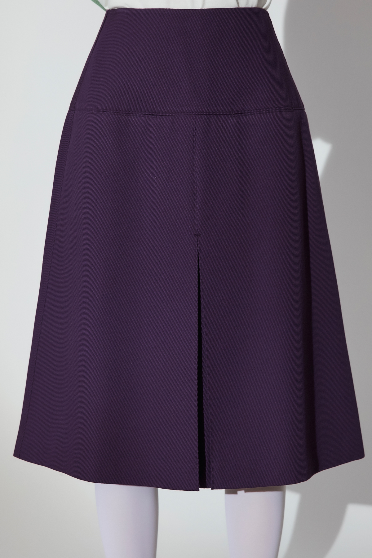 Inverted Pleats A Line Skirt Purple