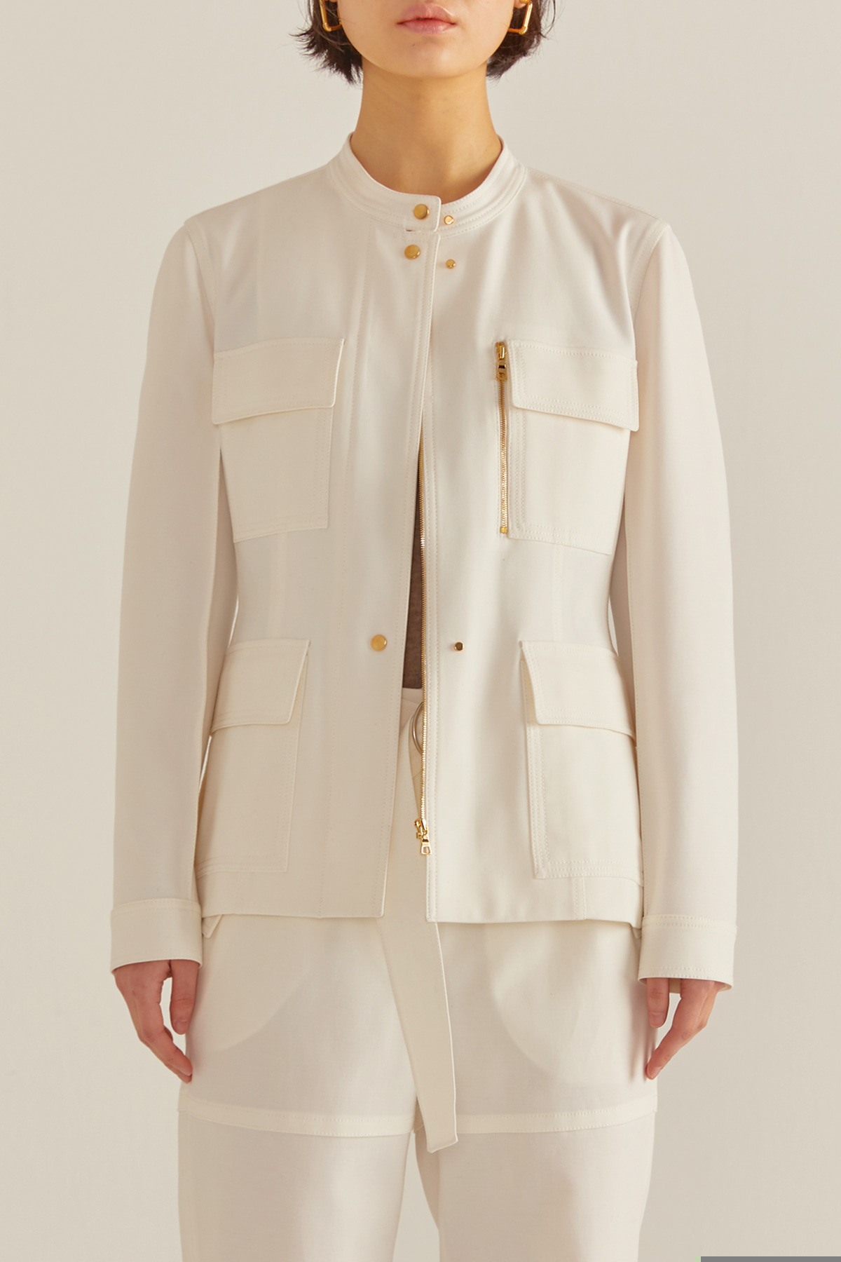 Coarse Stitched Jacket White