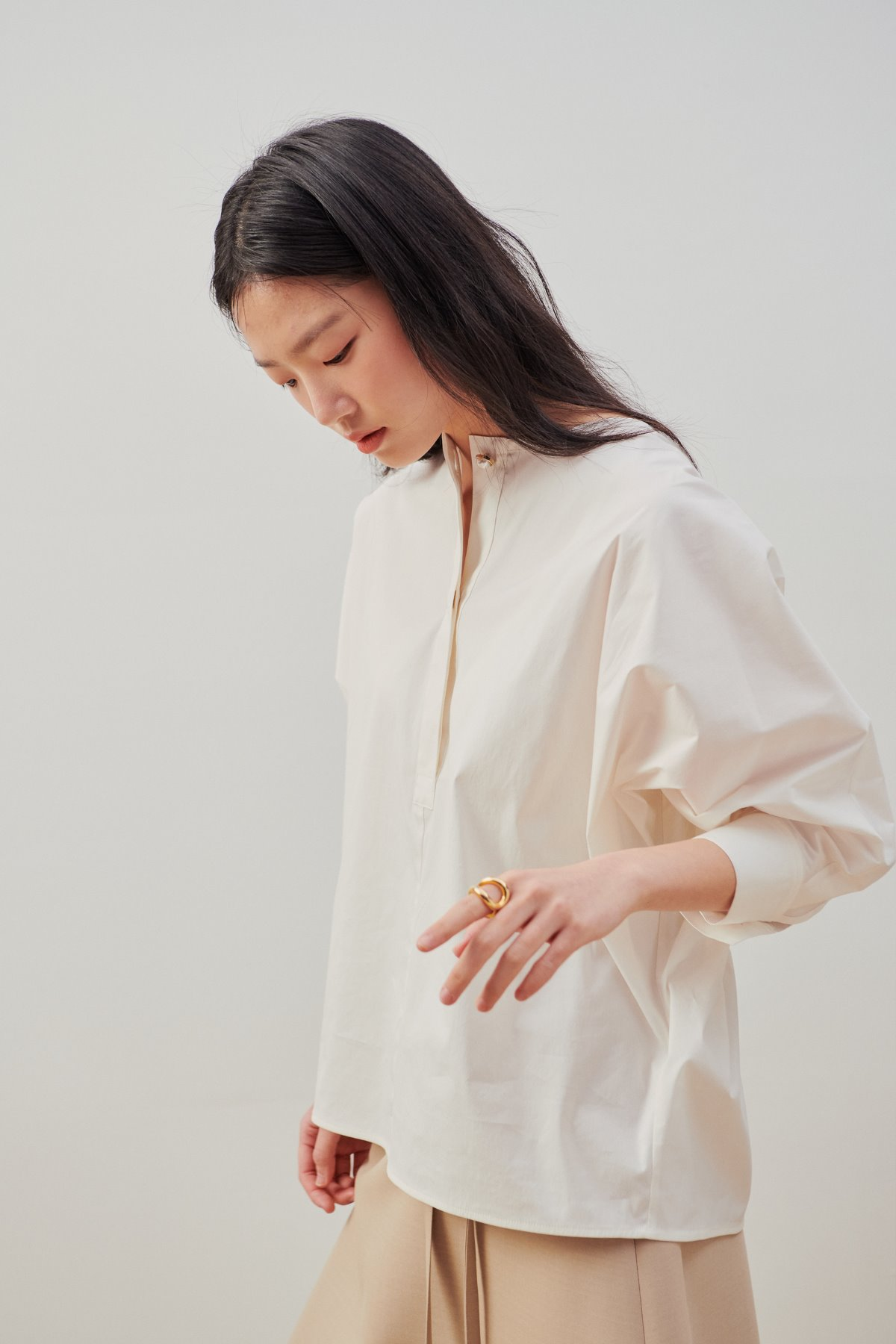 Dolman Sleeve Shirt Blouse White